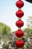 Китайские laterns в саде Стоковое Фото