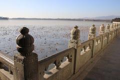 Китайские pavillions в летнем дворце, Пекин, Китай Это фото было принято 19-ого декабря 2017 Стоковые Изображения RF