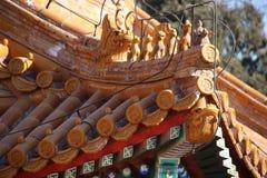 Китайские pavillions в летнем дворце, Пекин, Китай Это фото было принято 19-ого декабря 2017 Стоковое Изображение