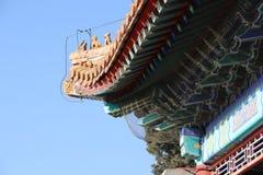 Китайские pavillions в летнем дворце, Пекин, Китай Это фото было принято 19-ого декабря 2017 Стоковые Фото