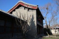 Китайские pavillions в летнем дворце, Пекин, Китай Это фото было принято 19-ого декабря 2017 Стоковые Изображения