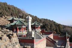 Китайские pavillions в летнем дворце, Пекин, Китай Это фото было принято 19-ого декабря 2017 Стоковые Фотографии RF