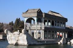 Китайские pavillions в летнем дворце, Пекин, Китай Это фото было принято 19-ого декабря 2017 Стоковая Фотография RF