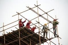 Китайский строитель стоковое изображение rf