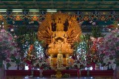 Китайский бог с тысячей руками стоковое фото