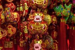 Китайский бог украшений удачи Стоковые Изображения