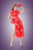 Китайский бой женщины Стоковые Фотографии RF