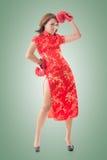 Китайский бой женщины Стоковое Изображение