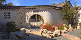 Китайский ботанический сад на саде Huntington ботаническом Стоковое Изображение