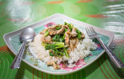 Китайский брокколи с свининой Стоковое Изображение