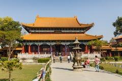 Китайский буддийский висок в Lumbini стоковые изображения rf
