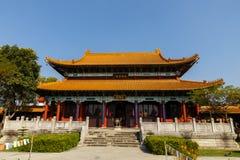 Китайский буддийский монастырь в Lumbini стоковые изображения rf