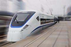 китайский быстрый модельный новый поезд Стоковая Фотография