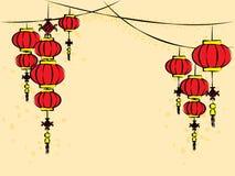 Китайский вектор фонариков Стоковое Изображение RF