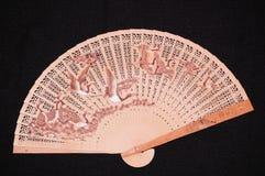 китайский вентилятор деревянный Стоковые Фото