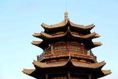 Китайский висок в горе Дуньхуана Mingsha стоковые изображения rf