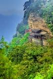китайский висок горы Стоковая Фотография