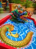 Китайский висок китайца статуи дракона Стоковые Изображения RF
