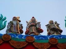 Китайский висок китайца статуи Стоковая Фотография