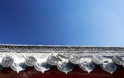 китайский висок крыши Стоковые Изображения