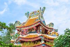 китайский висок крыши Стоковое Изображение