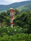 Китайский висок на острове Koh Phangan стоковое изображение rf