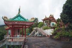 Китайский висок, остров Phangan Koh, Таиланд стоковые изображения