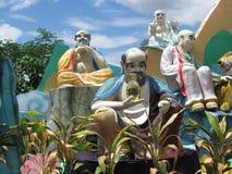 китайский висок статуи стоковое фото