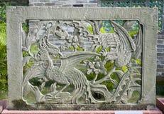 Китайский высекать камня стоковое фото rf