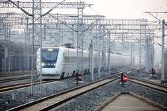китайский высокоскоростной поезд стоковое изображение