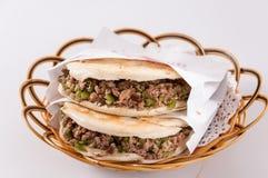 Китайский гамбургер, характеристика Шэньси стоковая фотография rf