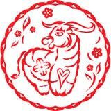 китайский год вола коровы Стоковое Изображение