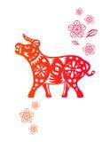 китайский год вола коровы Стоковые Изображения