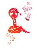 китайский год змейки Стоковое фото RF