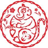 китайский год обезьяны Стоковые Изображения RF