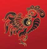 китайский год петуха horoscope Стоковые Изображения