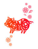 китайский год свиньи Стоковое Изображение RF
