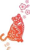 китайский год тигра иллюстрация штока