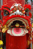китайский головной красный цвет льва Стоковые Изображения