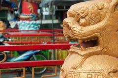 китайский головной львев стоковое изображение rf