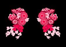 Китайский головной убор, как 2 овечки иллюстрация штока