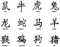 Китайский год  иллюстрация вектора