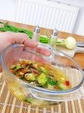 китайский делая суп Стоковое Фото