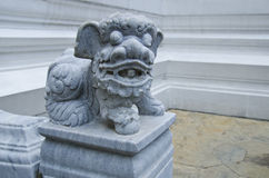 Китайский животный попечитель на изумрудном виске Будды Стоковые Изображения
