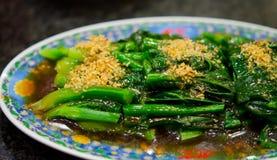 китайский зажаренный зеленый stir мустарда Стоковая Фотография RF