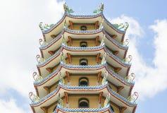 Китайский замок в солнечном дне Стоковые Изображения RF