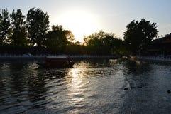 Китайский заход солнца Стоковое фото RF