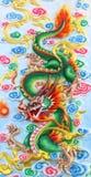 китайский зеленый цвет дракона Стоковое Изображение RF
