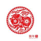 китайский знак зодиака свиньи Нового Года 2019 стоковая фотография
