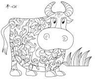 китайский зодиак вола иллюстрация вектора